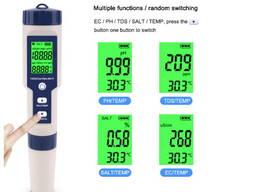 5 в 1 Ph/TDS/EC/соленость/температура