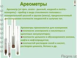 Ареометры АОН, АН, АСП, АСП-Т, АУ для урины