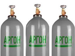 Аргон газообразный в баллонах объёмом 40л. Также есть Кислород Азот Аргон
