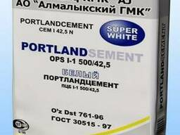 Белый цемент М-500 в мешках по 50кг.