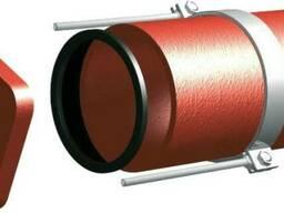Безраструбная заглушка с прижимными скобами 150 мм S-SML ГОС