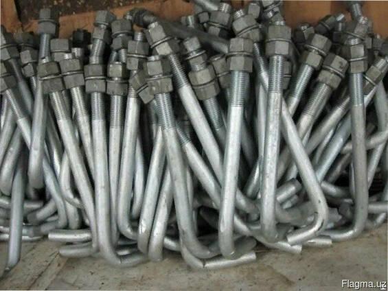 Болты фундаментные изогнутые тип 1.1 48 мм М48 ГОСТ 24379.1-
