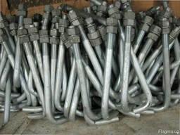 Болты фундаментные изогнутые тип 1. 1 48 мм М48 ГОСТ 24379. 1-