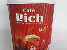 "Кофе. Coffee. ""Cafe Rich"" 3в1 по 30 гр Пакет / 330 мл. в Бум Гофра Стакане"