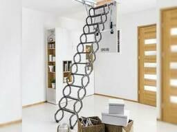Чердачные лестницы , раскладная деревянная лестница