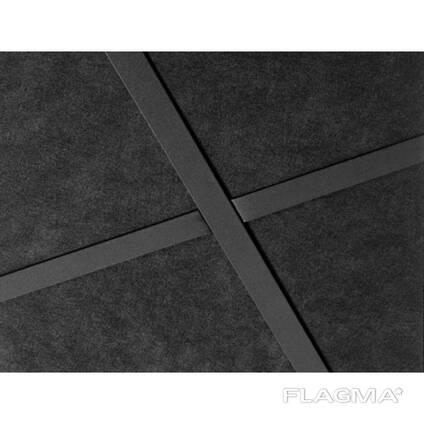 Чёрные потолки и черные стеновые панели Rockfon