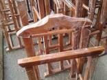 Деревянные стоячие вешалки 2\1, 3\1 (ручной работы) - фото 1