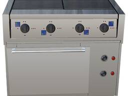 Электрическая плита (четырех конфорочная) с жарочным шкафом