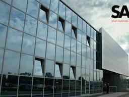 Фасадные Работа-витражное остекление фасадов (JP фасад)