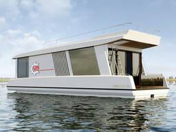 Катамаран, дача на воде, плавучий дом, дача.