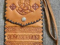 Казахские сувениры из натуральной кожи.