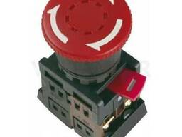 Кнопка грибок с фиксацией красный