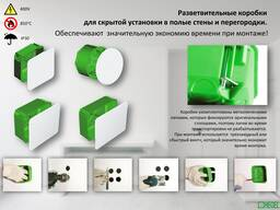 Коробки разветвительные для гипсокартона КР-1201, 1202, 1203, 1
