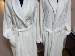 Махровый банный халат