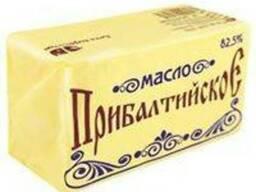 """Масло молочно-растительное """"прибалтика"""" с м.д.ж. 82,5%"""