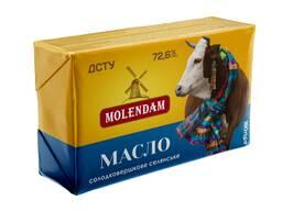 Масло сладкосливочное 72,6%, 82,5% м. ж. фас. 0,1; 0,2; 0,4; 0,5; 1 кг