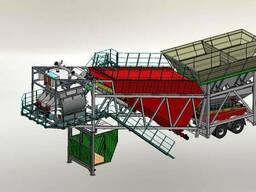 Мобильный бетонный завод от 60-80 м. куб/ час