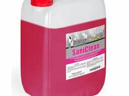 Моющее-дезинфицирующее средство SaniClean для уборки санузлов, бассейнов, душевых, саун