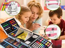 Набор для Рисования с Мольбертом в Металлическом чемоданчике Delux Art Set 238