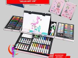 Набор для Рисования с Мольбертом в Металлическом чемоданчике Delux Art 138
