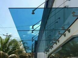 Навесы и козырьки из стекла