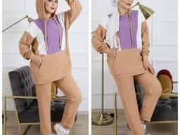 Одежда хиджаба Рубашка двойка айробика