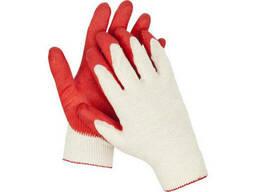Перчатки пятипалые прорезиненные