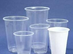 Пластиковый тары для пищевых продуктов и одноразовый стаканы