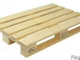 Поддоны (палет) деревянные раз. 1400х800, 1000х1200, в асс. - photo 1
