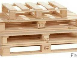 Поддоны (палет) деревянные раз. 1400х800, 1000х1200, в асс. - фото 2