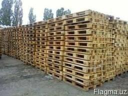 Поддоны (палет) деревянные раз. 1400х800, 1000х1200, в асс. - фото 4