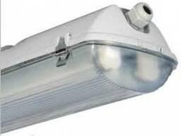 Промышленный светильник класс изоляции I двухламповый напряж