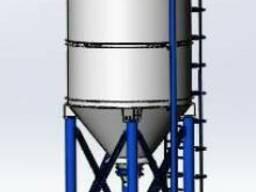 Силос цемента S55 комплектующий на БСУ