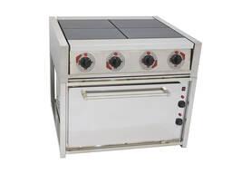 Электрическая плита (четырех конфорочная) с жарочным шкафом.
