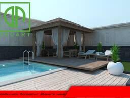 ДПК. Фасадные и Террасные панели из дпк полы вокруг бассейна