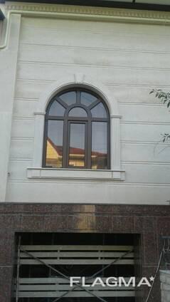 Травертин жидкий и натуральный камень делаем фасад под ключ