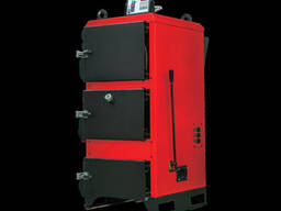 Твердотопливный четырехпроходный водогрейный котел с ручной загрузкой от 29 до 116 кВатт.
