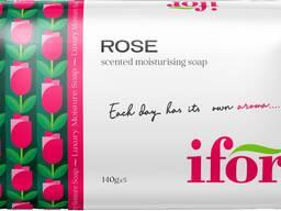 Твёрдое туалетное мыло IFOR Rose 140 g