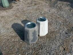 Урны бетонные с металлическим ведром-пепельницей