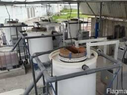 Установка электрохимического обесцвечивания стоков
