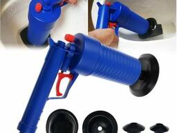 Вантуз-пистолет для прочистки труб PAOPAOTONG [синий]