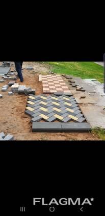 Вибропрессованная тротуарная плитка (брусчатка)