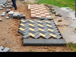 Вибропрессованная тротуарная плитка (брусчатка) - фото 1