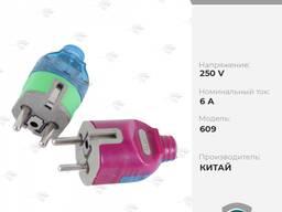 Вилка электрическая 6A/250V [н/з, 325]