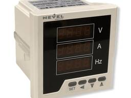 Вольтметр, Амперметр, Герц XD-96V-A-HZ на панель (96х96) однофазный