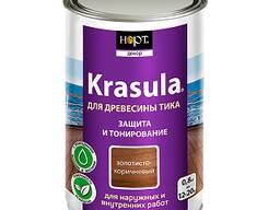 Защитно-декоративный состав «Krasula для древесины тика»