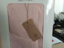 Женский банный халат с двумя полотенцами